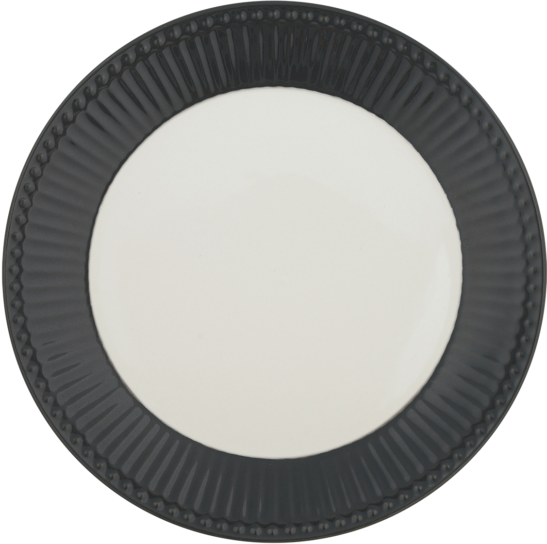 "Тарелка ""Alice"", цвет: серый, диаметр 23,5 см"