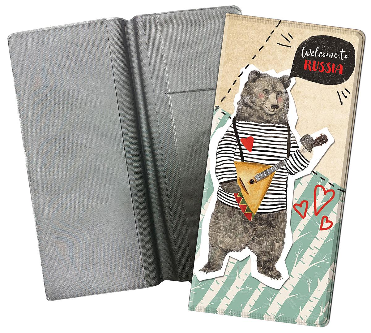Конверт путешественника Magic Home Медведь, для документов. 77121 конверт путешественника матрешки на красном пвх 20 5 22см 77117