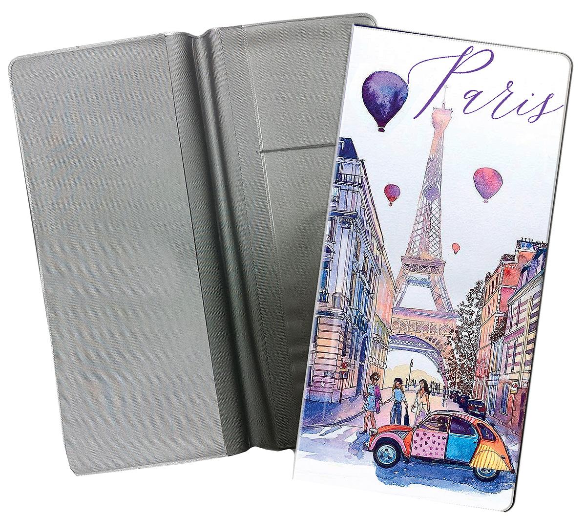 Конверт путешественника Magic Home Прогулка по Парижу, для документов. 77223 сувенир конверт путешественника авто винтаж для документов из пвх 20 5 22см 77224