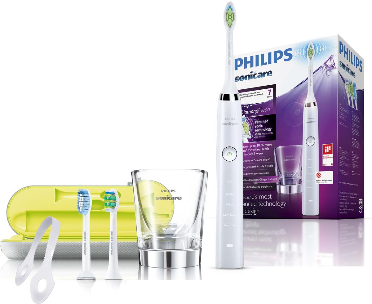Philips HX9332/35 Sonicare DiamondClean электрическая зубная щетка зубная щетка электрическая philips sonicare diamondclean hx9372 04 сиреневый