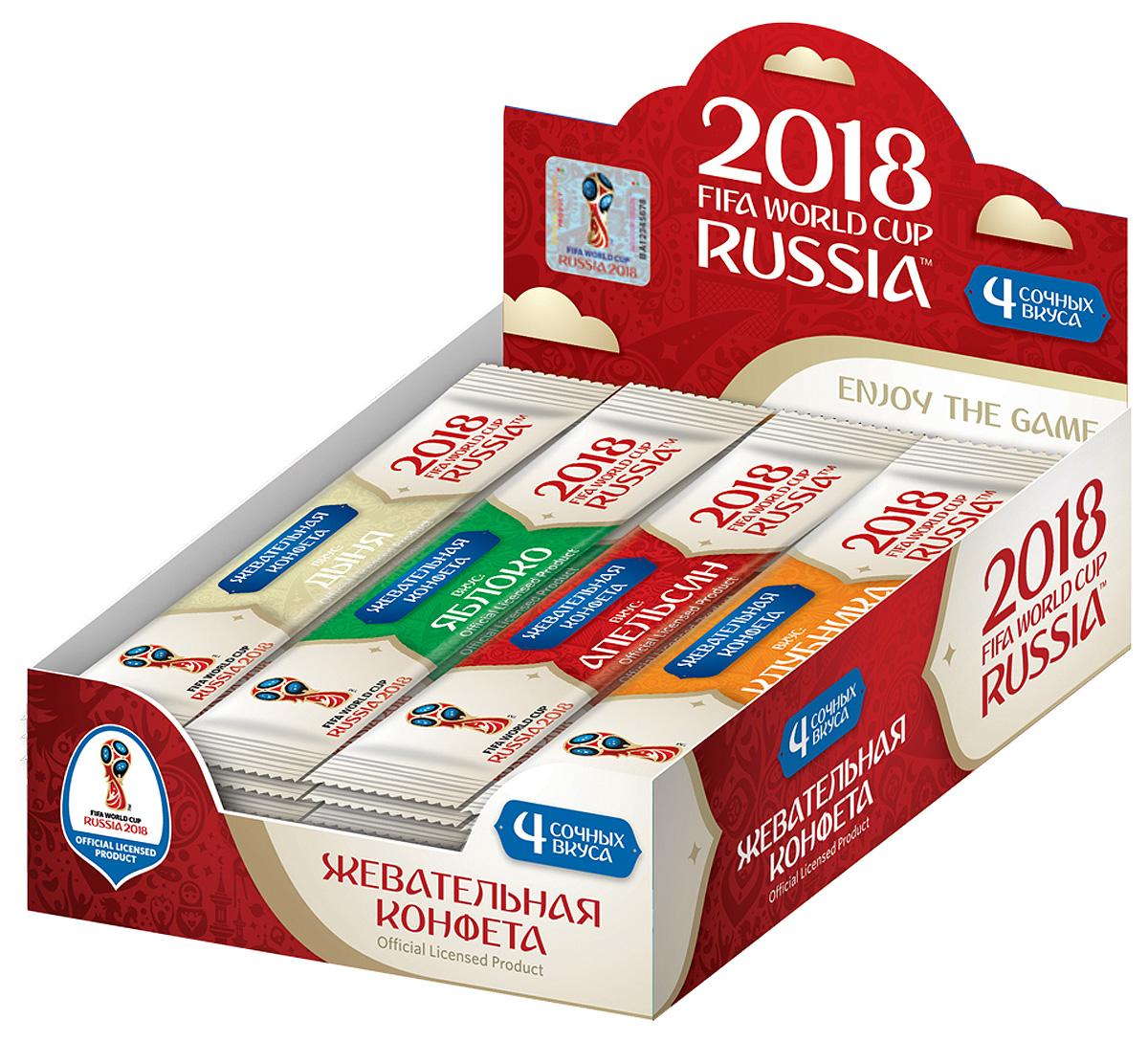 Конфитрейд Официальная продукция 2018 FIFA WORLD CUP фруктовая жевательная конфета, 50 шт по 10 г жевательная резинка конфитрейд trolls вкусношарик с начинкой 100 шт по 4 г