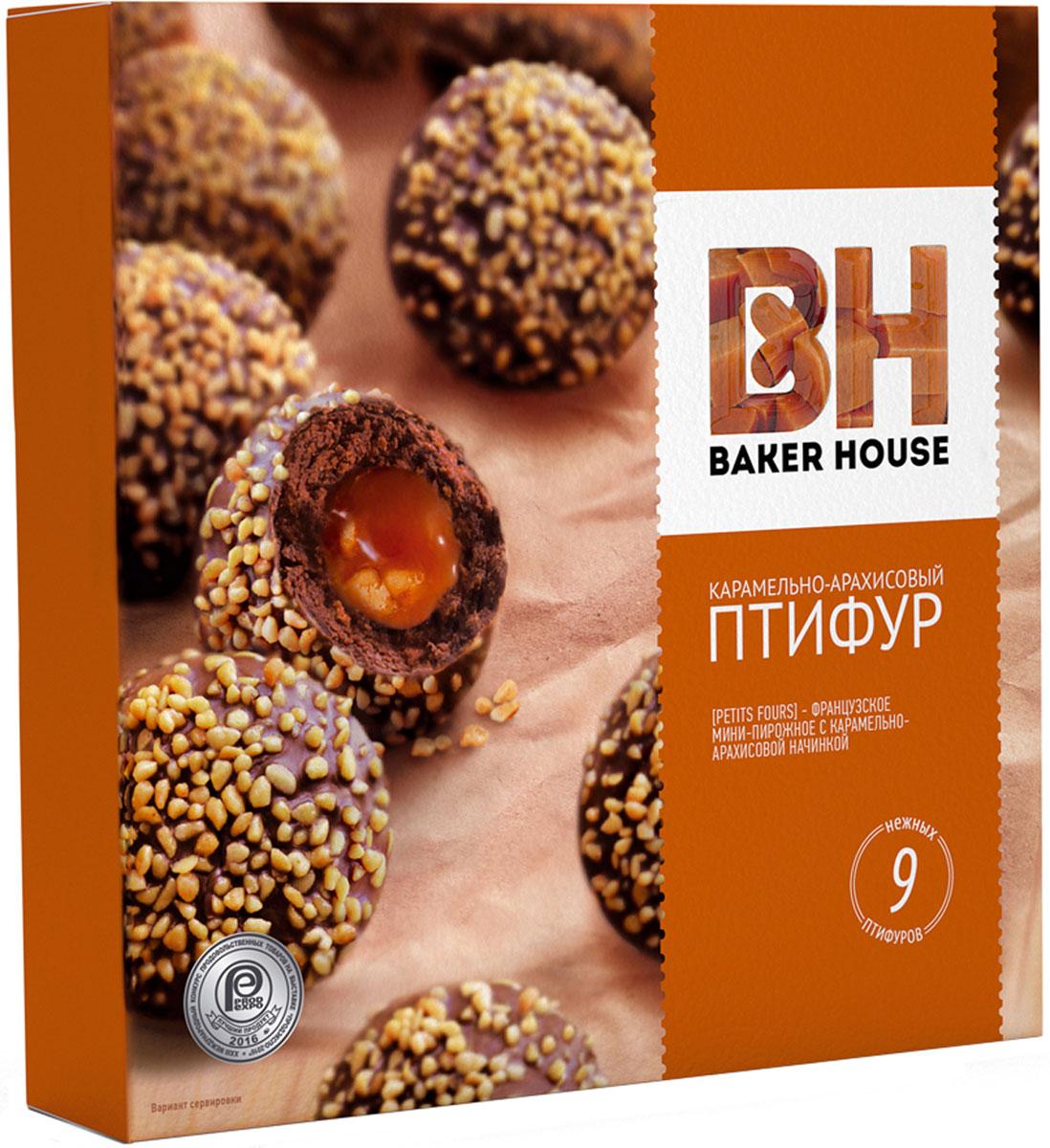 Baker HouseПтифур пирожные карамель с арахисом, 225 г Baker House