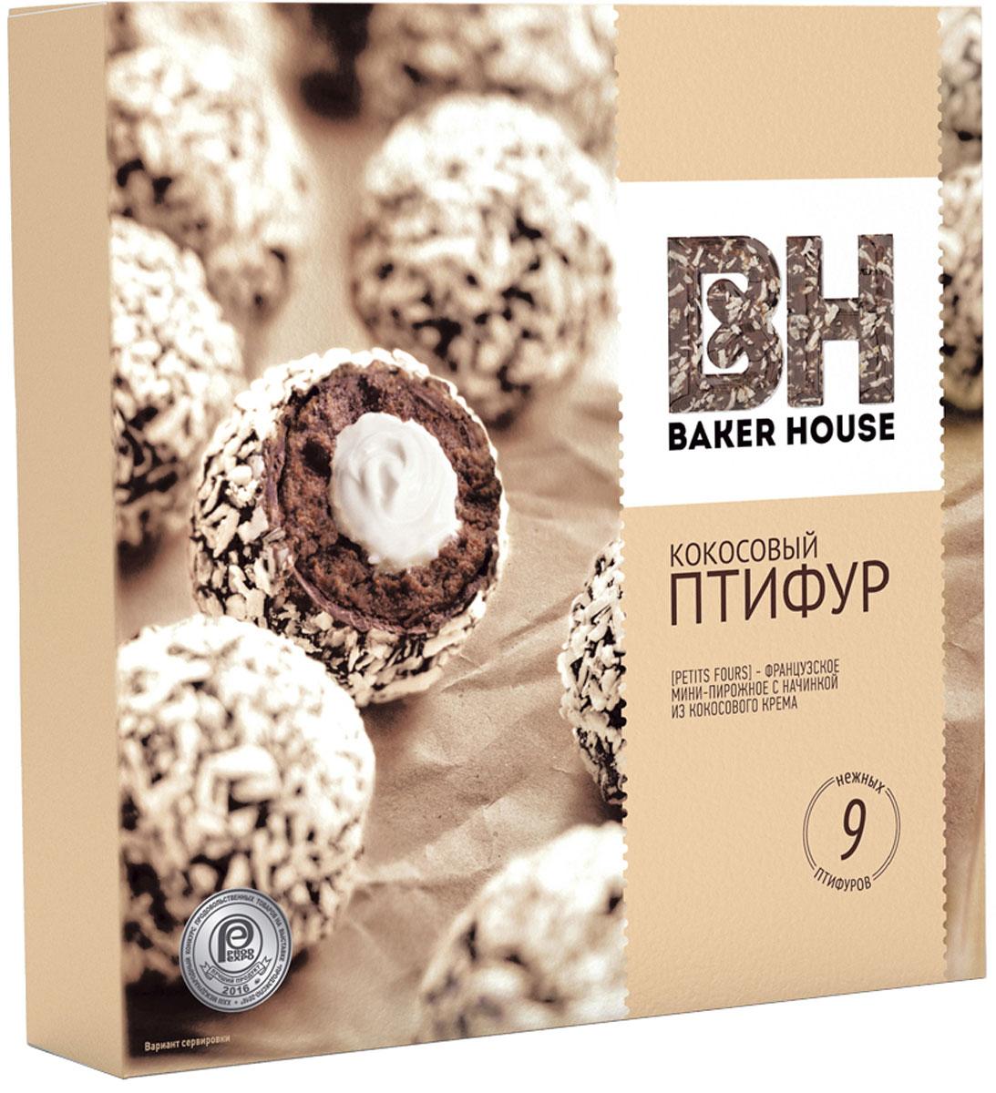 Baker House Птифур пирожные с кокосовым кремом, 225 г baker house птифур пирожные карамель с арахисом 225 г