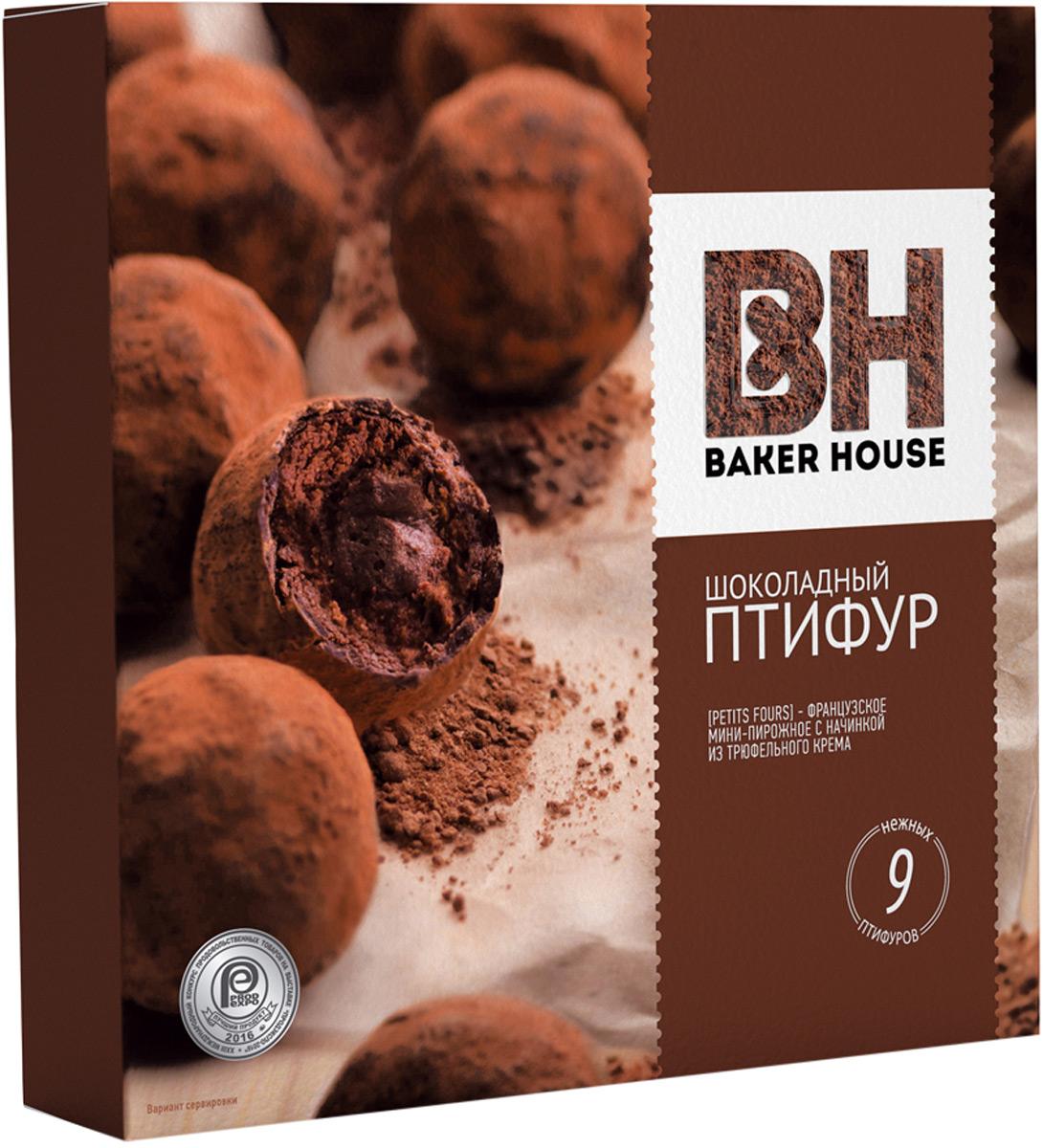 Baker House Птифур пирожные с трюфельным кремом, 225 г baker house птифур пирожные карамель с арахисом 225 г