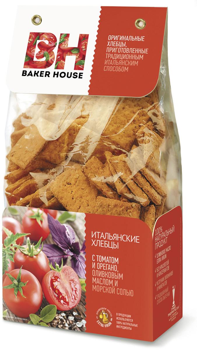 Baker House хлебцы итальянские с томатом, орегано, оливковым маслом и морской солью, 250 г4607001415787Итальянские хлебцы, под торговой маркой Baker House, приготовленные по оригинальному рецепту, с витаминами и полезными минералами, имеют в составе 100% натуральные ингредиенты, в т.ч. оливковое масло Extra Virgin. Рекомендуем!