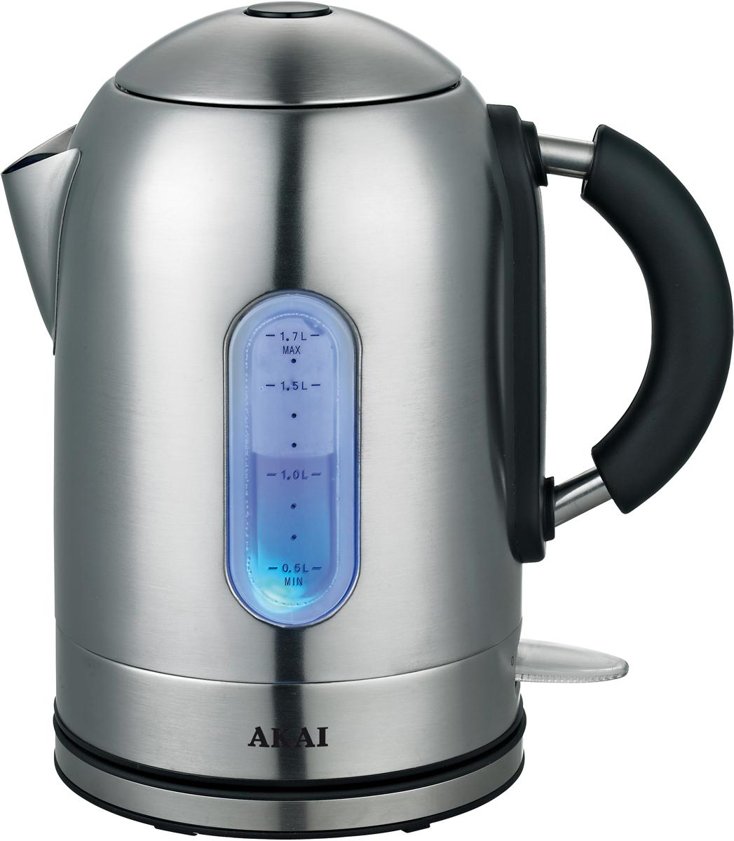 лучшая цена Электрический чайник Akai 1020Х, Silver
