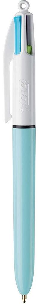 Bic Ручка шариковая Colours Fun 4 цвета цвет корпуса белый голубой ручка шариковая bic 4 colours fine автоматическая 0 36 мм 4 цвета