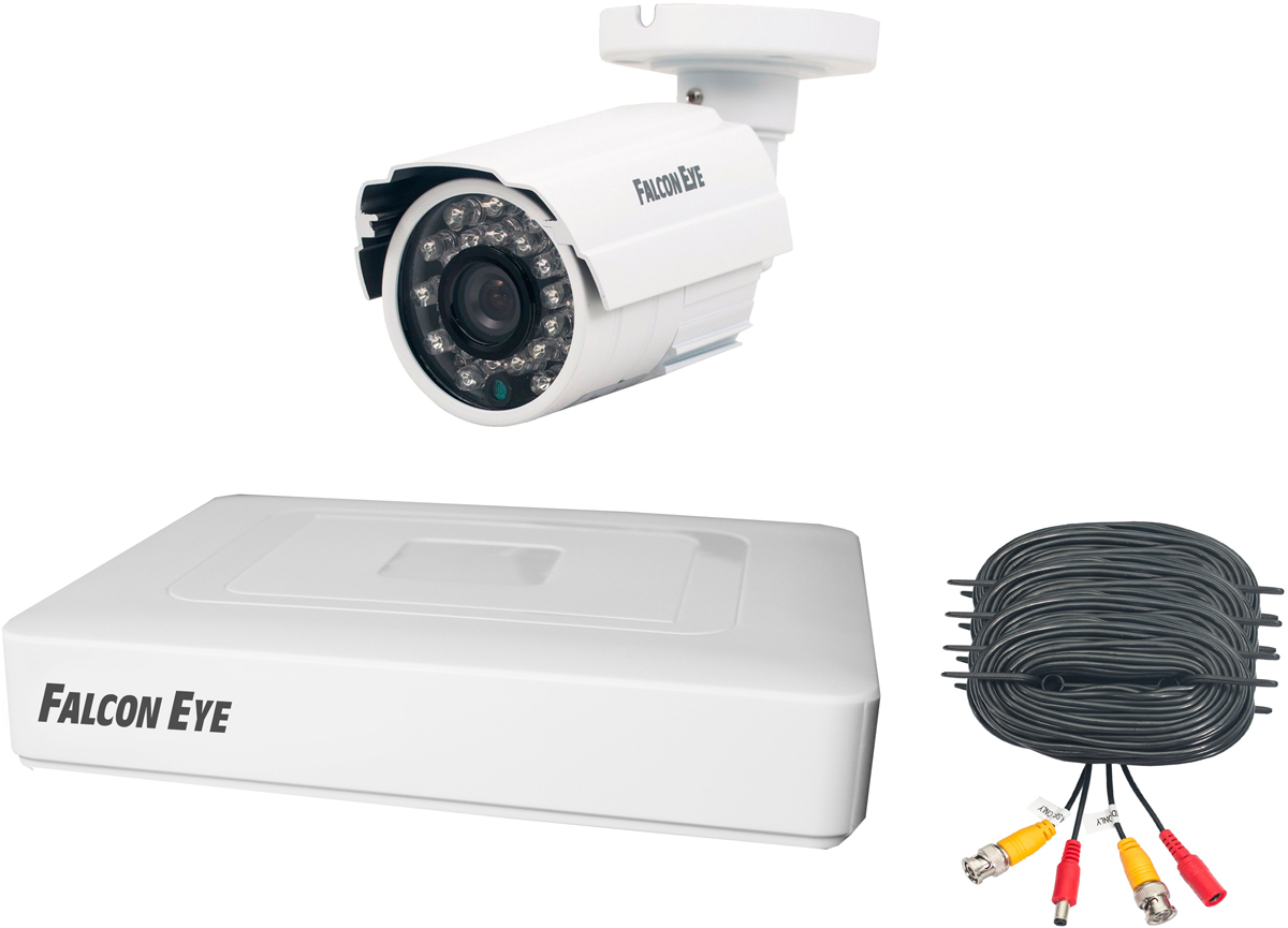 Falcon Eye FE-104MHD KIT START комплект видеонаблюдения falcon eye fe 104mhd kit light e 104mhd kit light комплект видеонаблюдения 4 х канальный гибридный ahd tvi cvi ip cvbs регистратор видеовыходы vga hdmi видеовходы 4xbnc