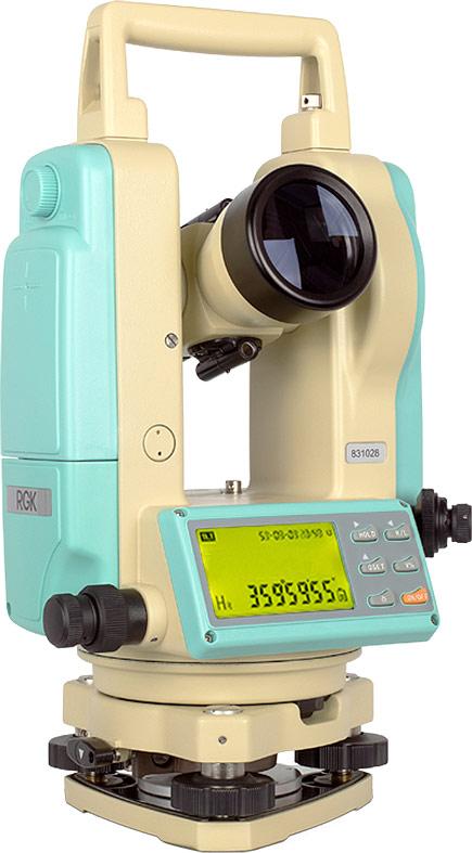 Теодолит электронный RGK T-02, 2 отражатель optima impulse с диодной импульсной подсветкой rgk
