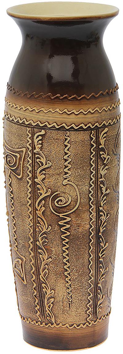 """Ваза напольная Керамика ручной работы """"Луиза"""", цвет: коричневый. 1016556"""