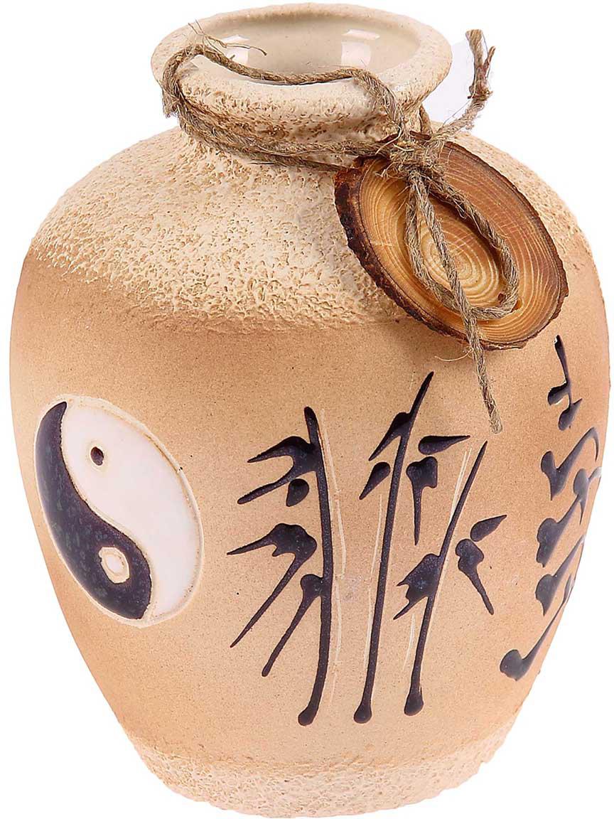 Ваза Керамика ручной работы Шар, цвет: бежевый набор винный керамика ручной работы ружье 7 предметов