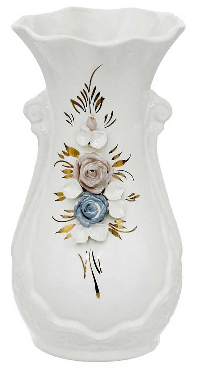Ваза Керамика ручной работы Лакшми, цвет: белый ваза керамика ручной работы лиана цвет светло коричневый средняя 1130557
