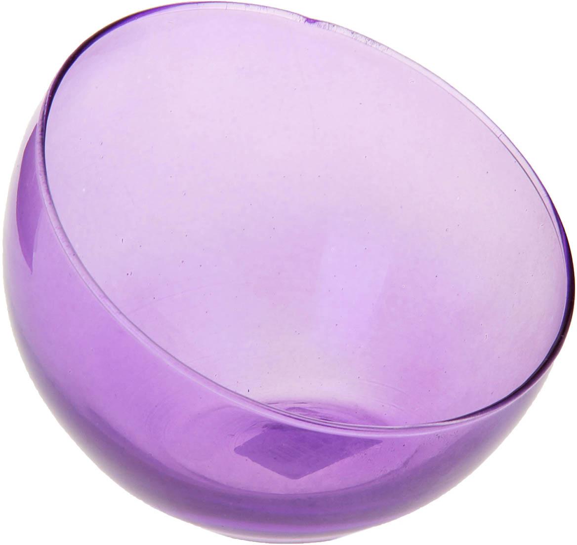 Ваза-шар Evis Анабель, косой срез, цвет: сиреневый, 800 мл ваза шар evis сиреневый мираж цвет сиреневый 3 л