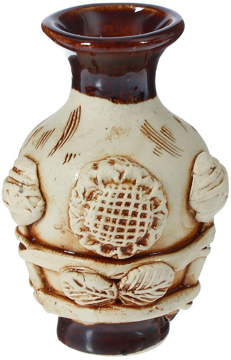 """Ваза Керамика ручной работы """"Мужичок"""", цвет: коричневый, 9 см"""