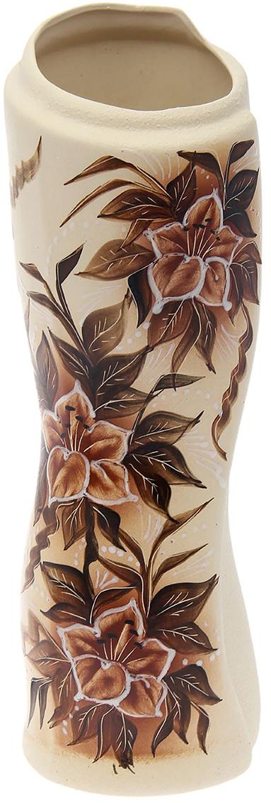 """Ваза Керамика ручной работы """"Свиток"""", цвет: коричневый. 1769482"""