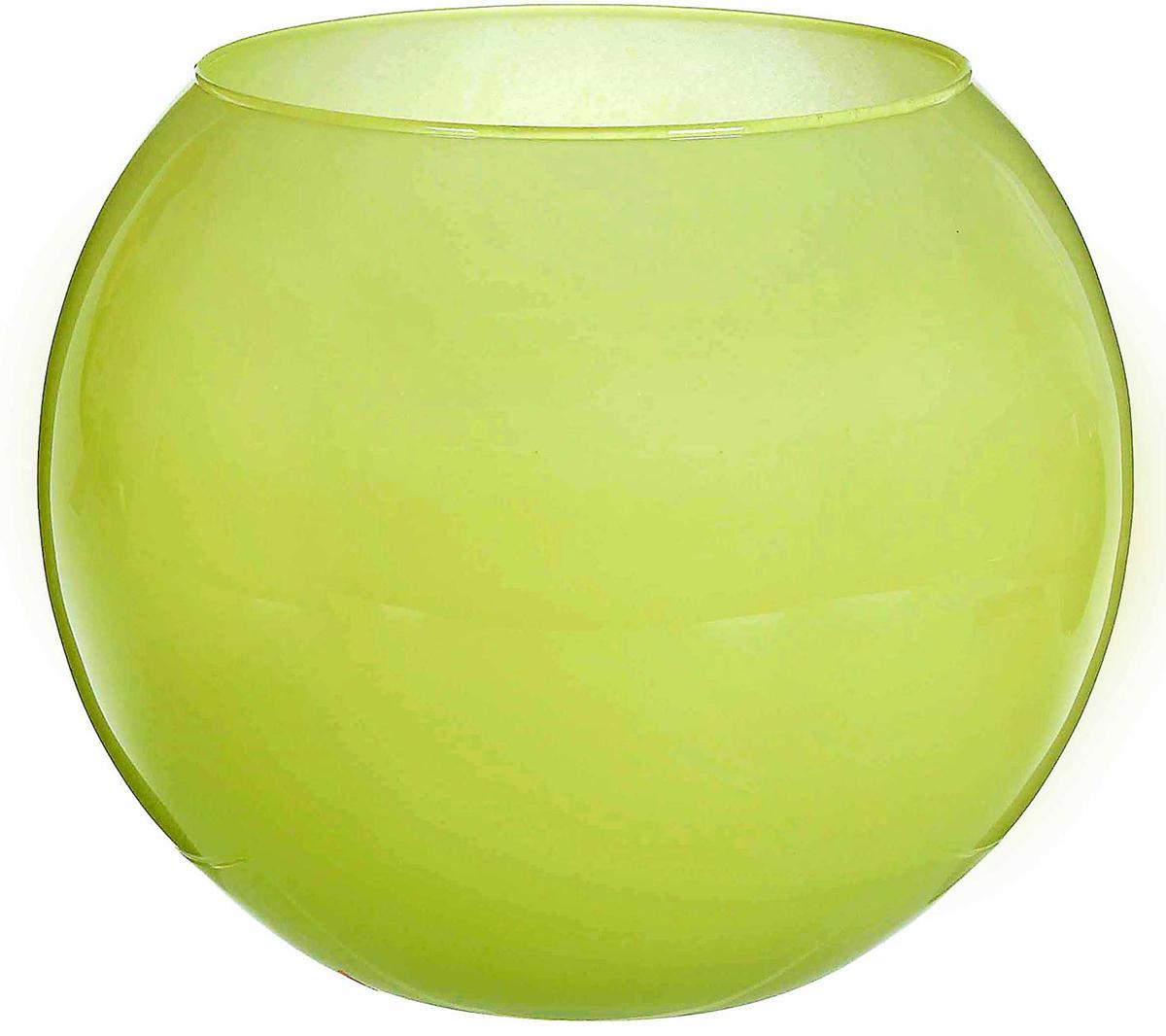Ваза-шар Evis Дильбар, цвет: зеленый, 4 л ваза шар evis сиреневый мираж цвет сиреневый 3 л