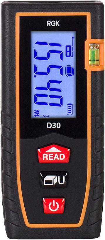 Лазерный дальномер-рулетка RGK D30 лазерный дальномер rgk d50