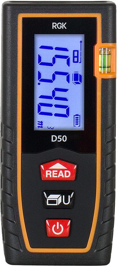 Лазерный дальномер-рулетка RGK D50 лазерный дальномер rgk d50
