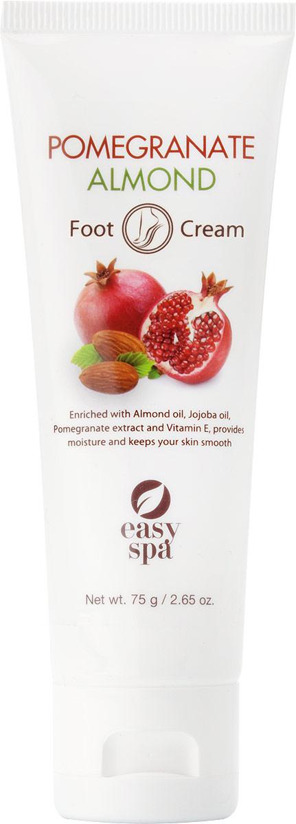 Easy Spa Крем для ног Pomegranate&Almond, 75 мл organic shop крем масло для ног барбадосский spa педикюр 75 мл