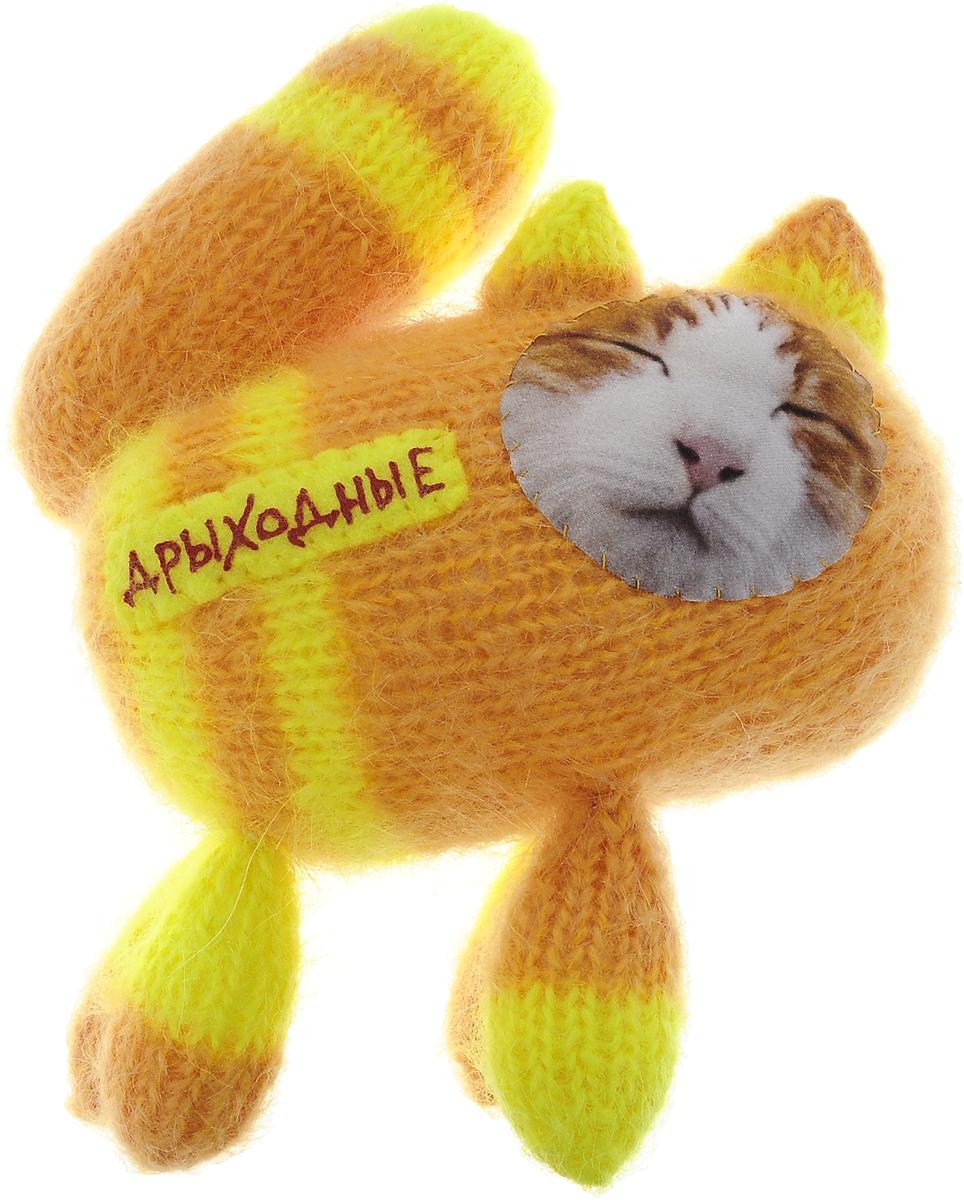 """Мягкая игрушка Бюро находок """"Котик. Дрыходные"""", цвет: желто-оранжевый"""