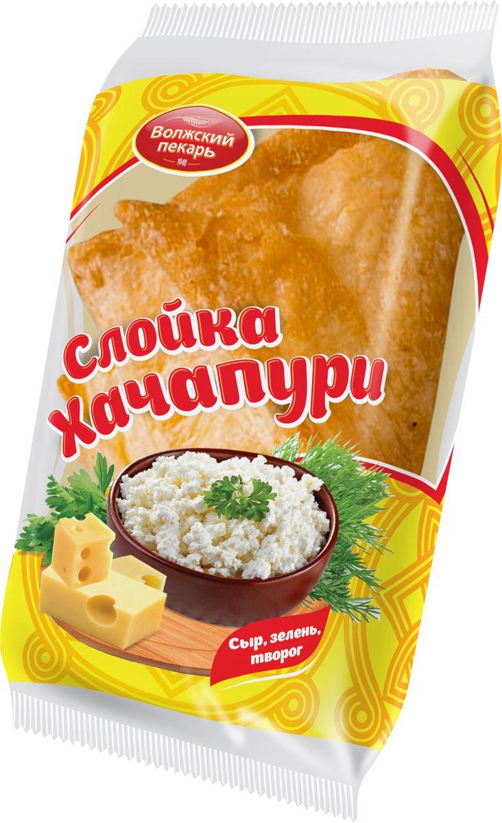 Волжский Пекарь Хачапури Сыр, Зелень, Творог, 60 г Волжский пекарь