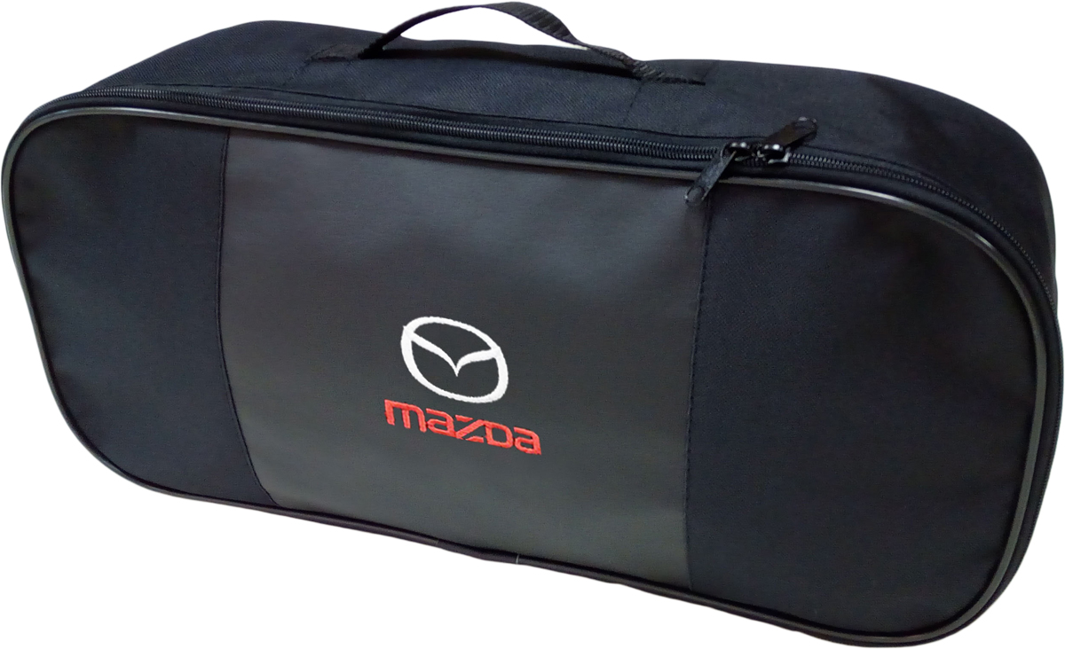 Набор аварийный в сумке Auto Premium, с логотипом Mazda + жилет светоотражающий, размер XL. 67454 жилет аварийный dollex сигнальный со световозвращающими элементами автолг 369 оранжевый размер xl
