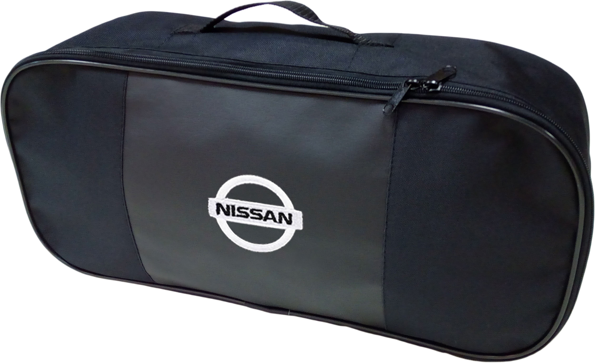 Набор аварийный в сумке Auto Premium, с логотипом Nissan + жилет светоотражающий, размер XL. 67455 жилет аварийный dollex сигнальный со световозвращающими элементами автолг 369 оранжевый размер xl