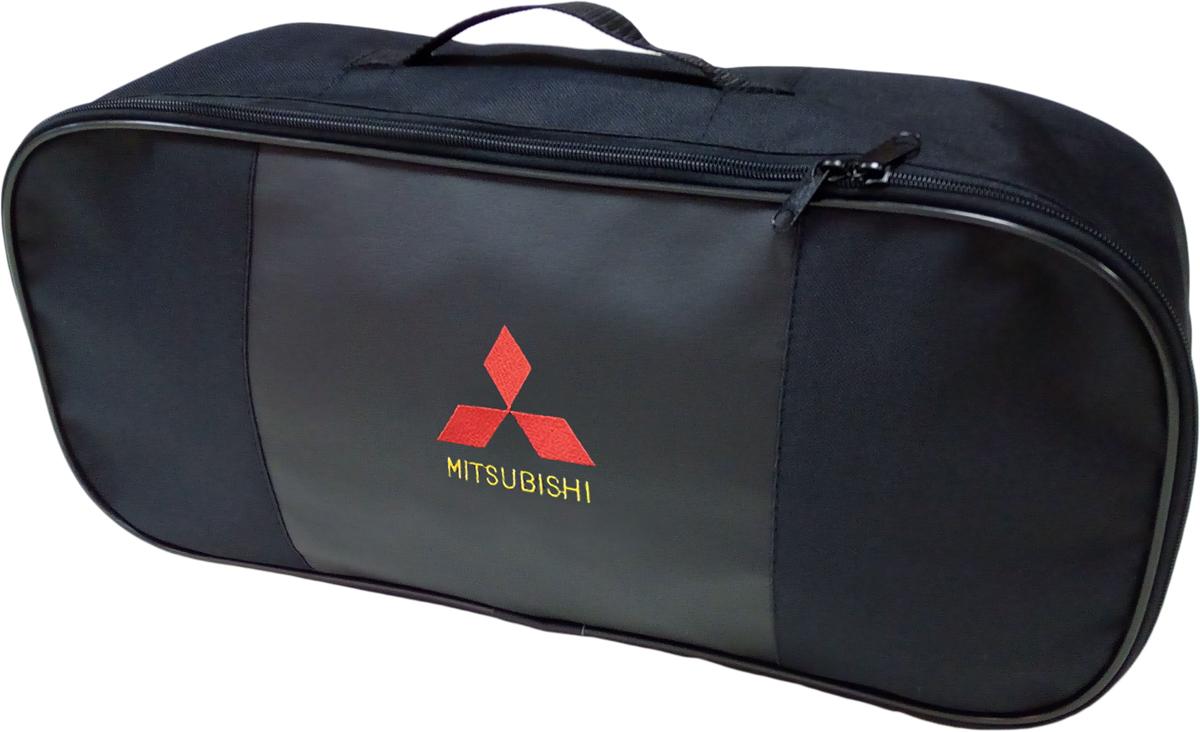 Набор аварийный в сумке Auto Premium, с логотипом Mitsubishi + жилет светоотражающий, размер XL. 67458 жилет аварийный dollex сигнальный со световозвращающими элементами автолг 369 оранжевый размер xl