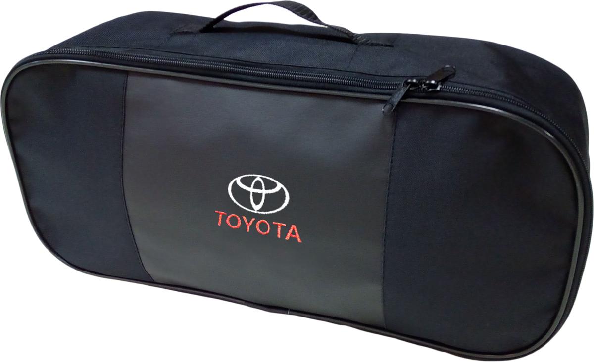 Набор аварийный в сумке Auto Premium, с логотипом Toyota + жилет светоотражающий, размер XL. 67463 жилет аварийный dollex сигнальный со световозвращающими элементами автолг 369 оранжевый размер xl