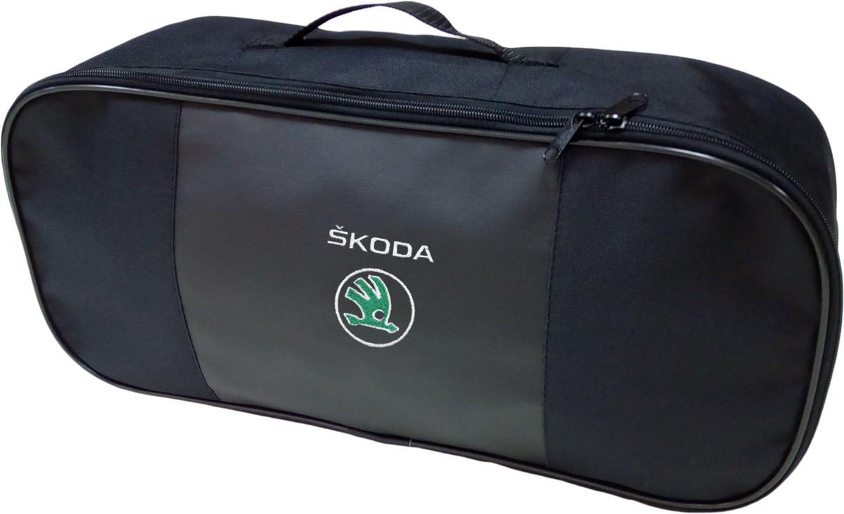 Набор аварийный в сумке Auto Premium, с логотипом Skoda + жилет светоотражающий, размер XL. 67468 жилет аварийный dollex сигнальный со световозвращающими элементами автолг 369 оранжевый размер xl