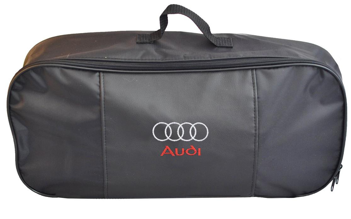 Набор аварийный в сумке Auto Premium, с логотипом Audi + жилет светоотражающий, размер XL. 67466 жилет аварийный dollex сигнальный со световозвращающими элементами автолг 369 оранжевый размер xl