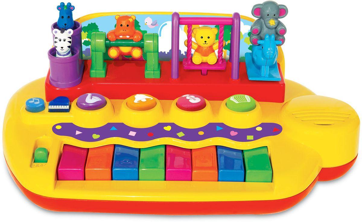 Kiddieland Развивающая игрушка Пианино с животными на качелях kiddieland развивающая игрушка пианино с животными минни маус и друзья kiddieland