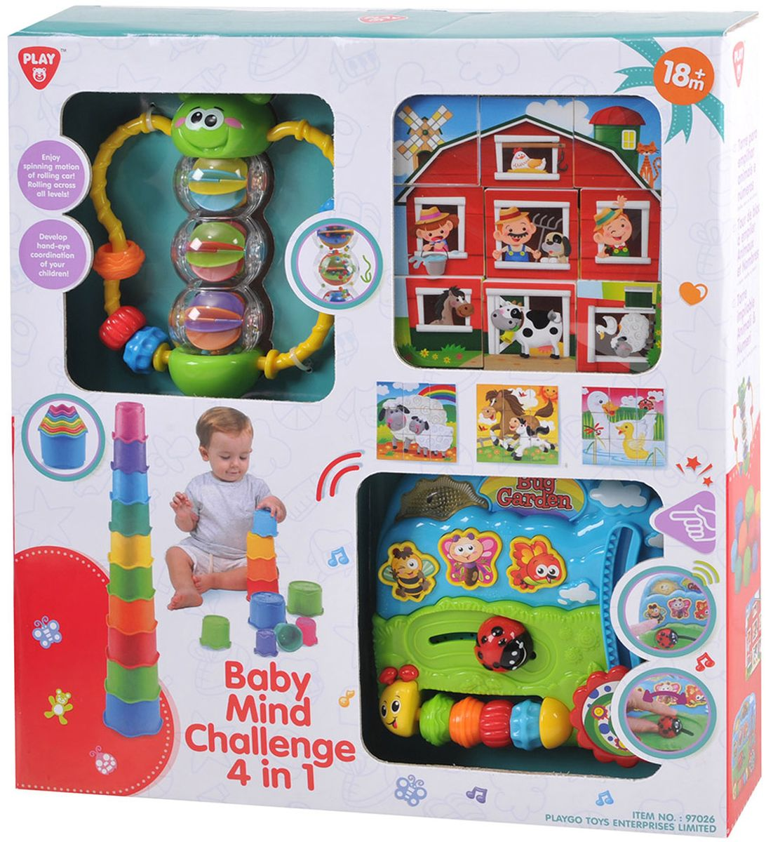 PlayGo Развивающая игрушка Формочки бабочка кубики центр развивающий центр playgo на кроватку подсолнух 2458