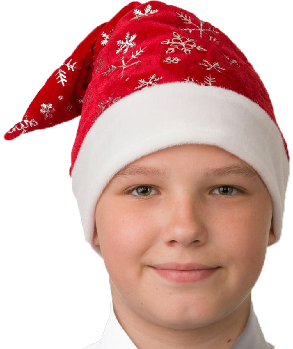 Батик Аксессуар карнавальный для мальчика Колпак со снежинками размер 52-56 колпак новогодний снежинки 719616