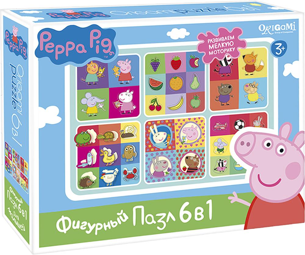 Peppa Pig Пазл для малышей Герои и предметы 6 в 1 пазлы peppa pig пазл 24a