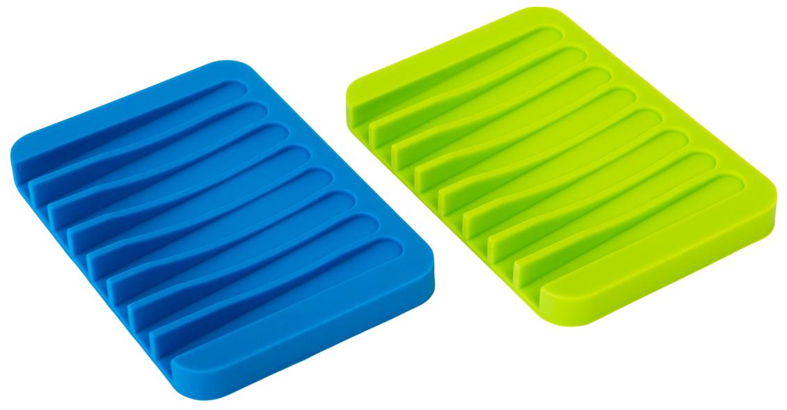 Набор мыльниц Ruges Рельеф, 2 штV-6Мыло важно правильно хранить между использованиями: от лишней влаги брусок размокает. И это не только эстетическая проблема, а и благоприятная среда для размножения бактерий. Мыльница силиконовая «РЕЛЬЕФ» - фигурная подставка для мыла. Специальная форма поверхности и отсутствие бортиков позволяет бруску мыла легко просохнуть после применения. Силикон хорошо удерживает Мыльницу «РЕЛЬЕФ» на гладких поверхностях. Стильный минималистический дизайн – приятное дополнение! Размер: 11*8*1 см. Количество каналов: 8 шт. Комплектация: мыльница 2 шт.
