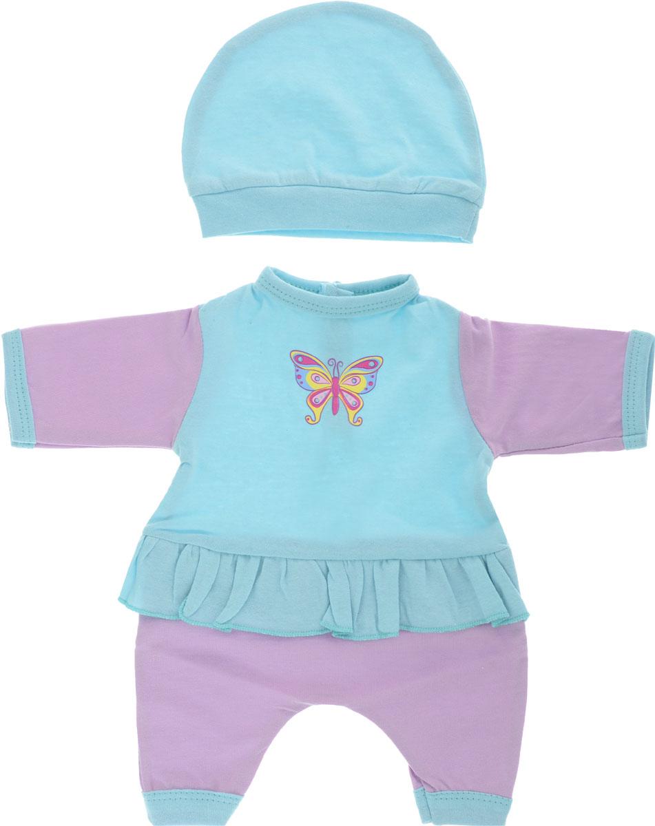 Mary Poppins Одежда для кукол Комбинезон с шапочкой Бабочка цвет розовый бирюзовый комплект одежды для девочки acoola baby dino комбинезон 2 шт нагрудник для кормления шапочка цвет разноцветный 20254250001 8000 размер 80