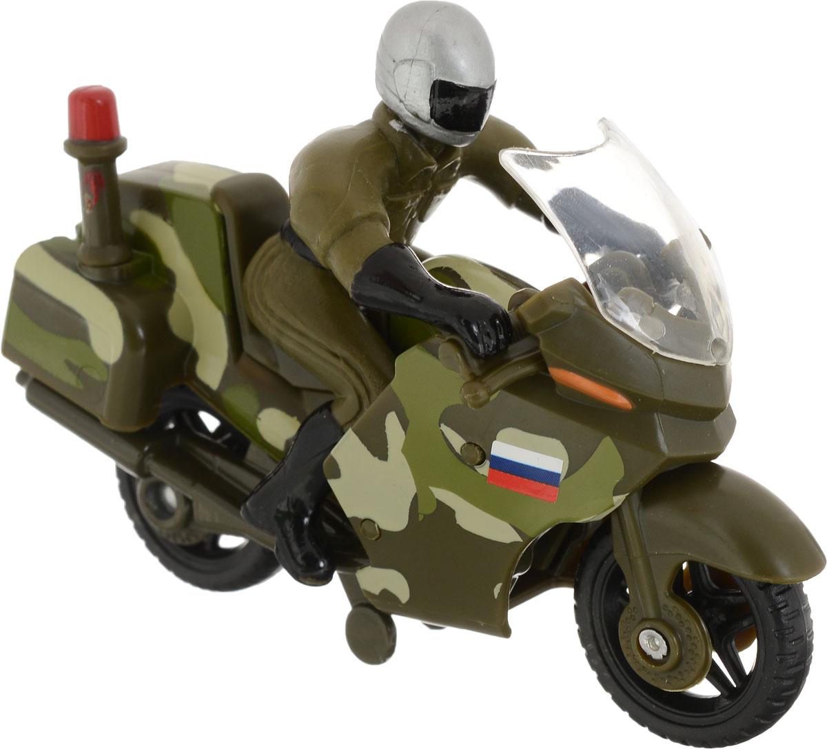 ТехноПарк Мотоцикл вооруженные силы с фигуркой цвет хаки