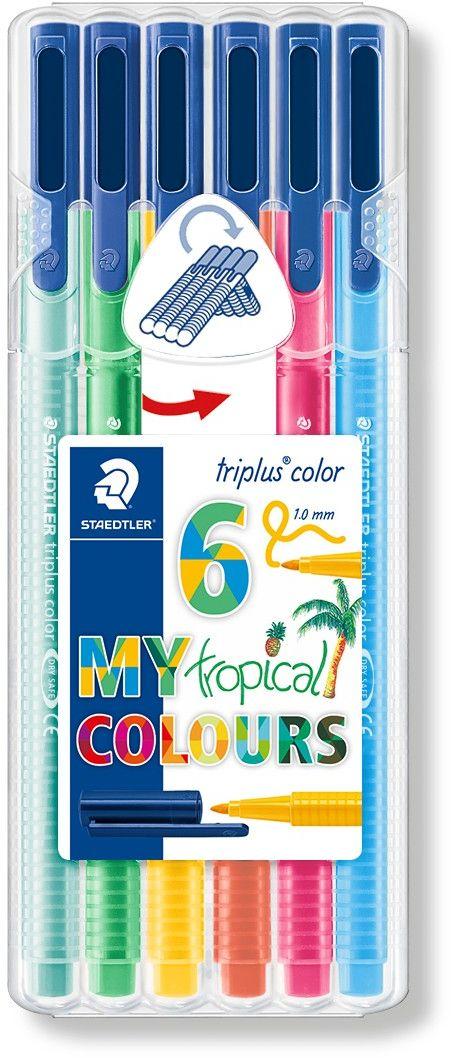 Набор фломастеров Triplus Color Тропические цвета 6 цветов