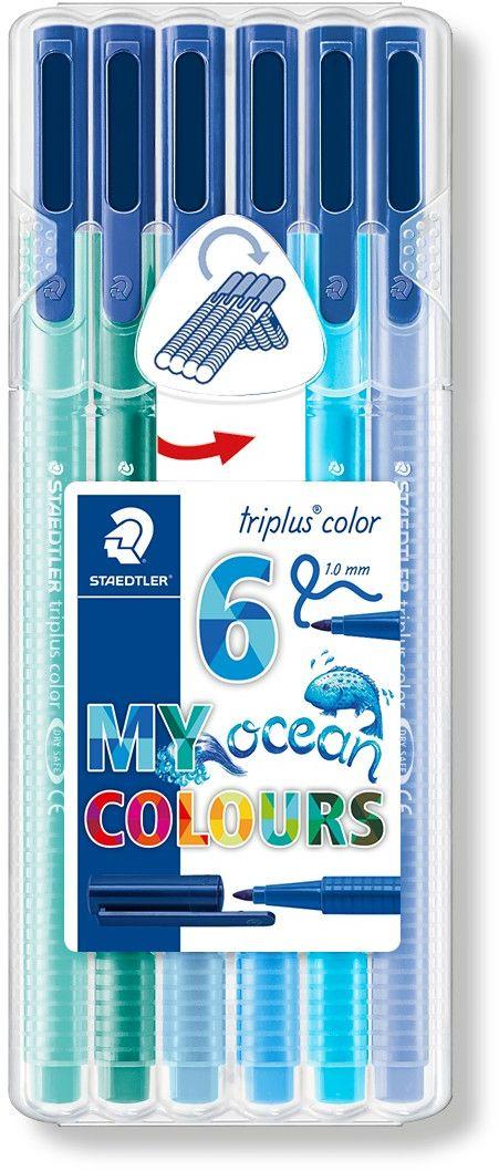 Набор фломастеров Triplus Color Цвета океана 6 цветов
