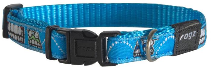"""Ошейник для собак Rogz """"Fancy Dress"""", цвет: голубой, ширина 1,1 см. Размер S"""