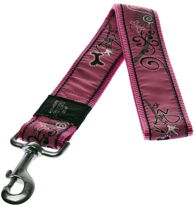 "Поводок для собак Rogz ""Fancy Dress"", цвет: розовый, ширина 4 см. Размер XXL. HL04BN"