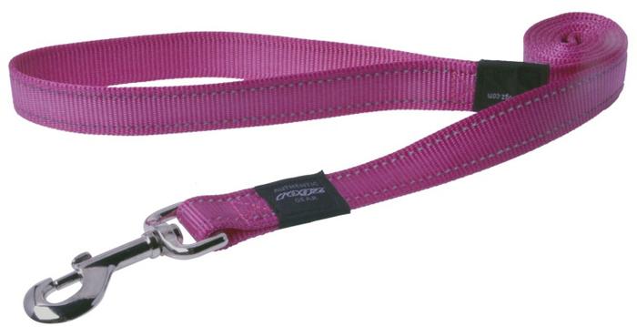 "Поводок для собак Rogz ""Utility "", цвет: розовый, ширина 2,5 см. Размер XL"