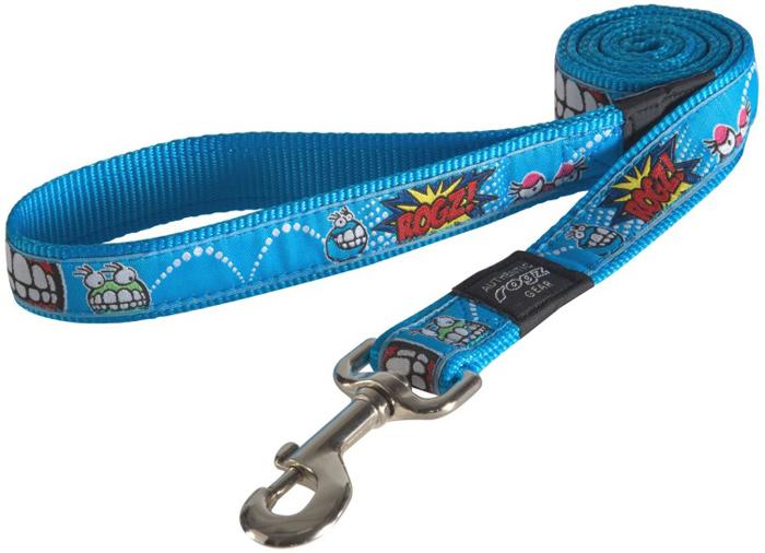 Поводок для собак Rogz Fancy Dress, удлиненный, цвет: голубой, ширина 2,5 см. Размер XLHLL02BXНеобычный дизайн. Широкая гамма потрясающе красивых орнаментов на прочной тесьме поверх нейлоновой ленты украсит Вашего питомца.Необыкновенно крепкий и прочный поводок.Выполненные по заказу литые кольца выдерживают значительные физические нагрузки и имеют хромирование, нанесенное гальваническим способом, что позволяет избежать коррозии и потускнения изделия.