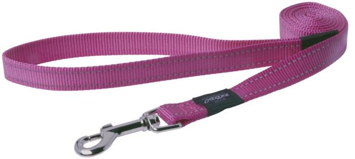 """Поводок для собак Rogz """"Utility """", удлиненный, цвет: розовый, ширина 2 см. Размер L"""