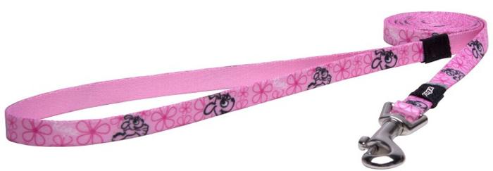 Поводок для собак Rogz Yo Yo, цвет: розовый, ширина 1,2 см. Размер S rogz поводок перестежка для собак rogz yo yo xs 8мм 2 м розовый