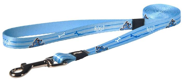 Поводок для собак Rogz Yo Yo, цвет: голубой, ширина 1,2 см. Размер M поводок для собак rogz yo yo цвет голубой ширина 1 2 см размер m