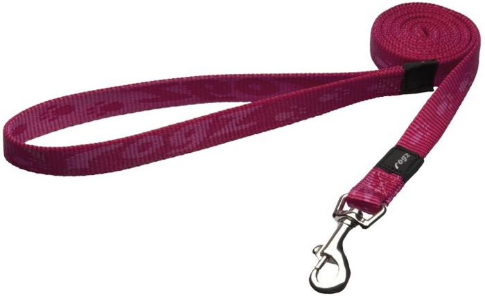 """Поводок для собак Rogz """"Alpinist"""", удлиненный, цвет: розовый, ширина 1,6 см. Размер M"""
