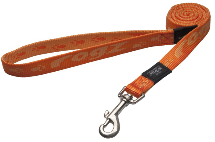 Поводок для собак Rogz Alpinist, удлиненный, цвет: оранжевый, ширина 2 см. Размер L поводок для собак rogz alpinist удлиненный цвет коричневый ширина 2 5 см размер xl hll27j