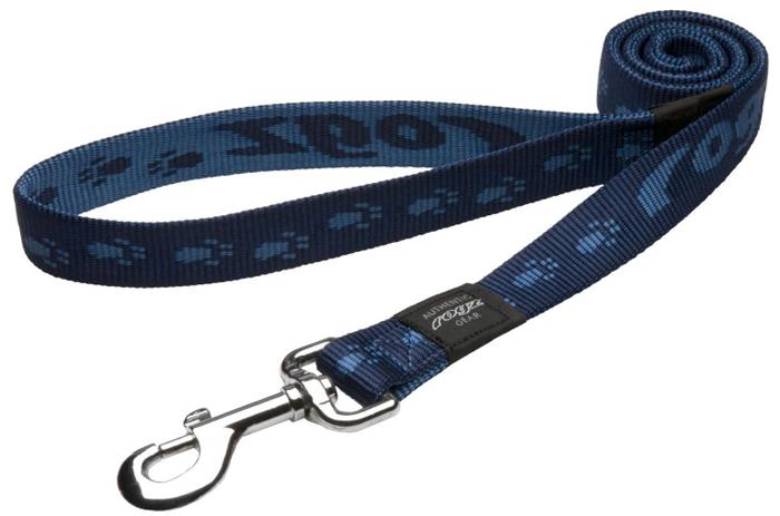 Поводок для собак Rogz Alpinist, удлиненный, цвет: синий, ширина 2,5 см. Размер XL поводок для собак rogz alpinist удлиненный цвет коричневый ширина 2 5 см размер xl hll27j
